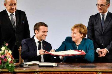 马克龙和默克尔签署新的合作条约